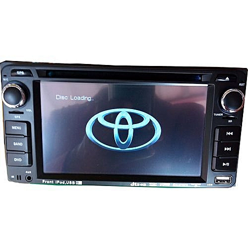 Toyota Universal Car DVD Player With Bluetooth, USB, SD And Auxiliary Inputs + 170 Degree Reverse Camera