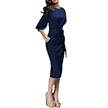 b555482f67 Women Spring Autumn Work Dress European Half Sleeve Elegant Ladies Bodycon  Pencil Slim Party Dresses