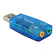 PC Sound Card USB 2.0 Virtual External Mic Speaker 3D 5.1 Channel Audio PC Sound Card