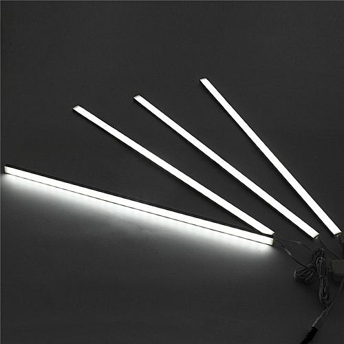 CLAITE 4Pcs 50CM 5730SMD 30 LED Under Cabinet Light Kit 1000LM 10W LED Strip Light For Under Kitchen Cupboard Cabinet Lamp