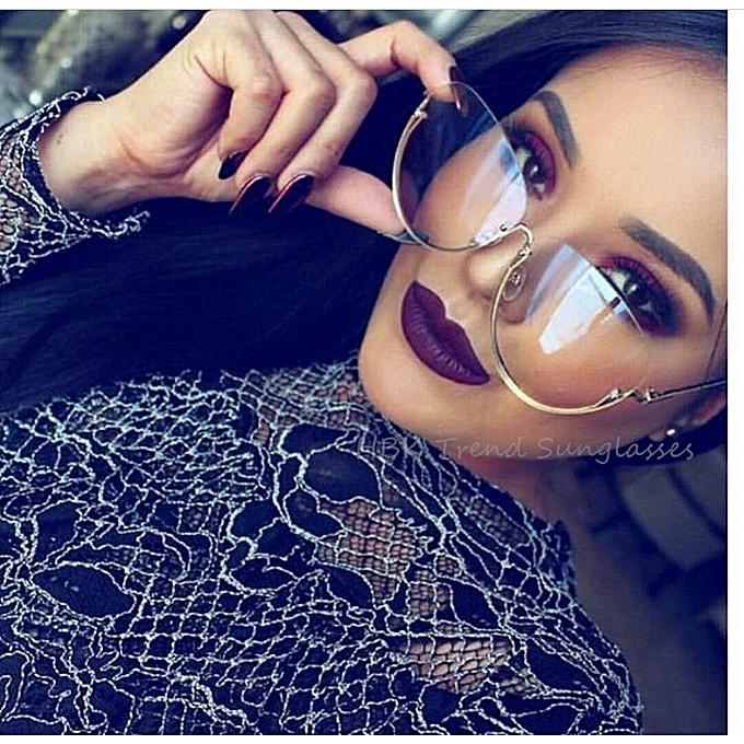 00223ecad8 2017 Rimless New Cat Eye Women Sunglasses Fashion Transparent Brand  Designer Sun Glasses Lady Clear Big