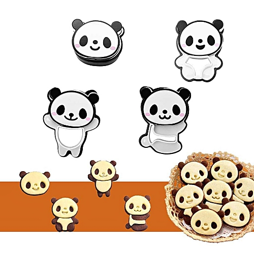 Plastic Cute Little Panda Mold DIY Bread Cookie Mould Creative Funny Party Decor