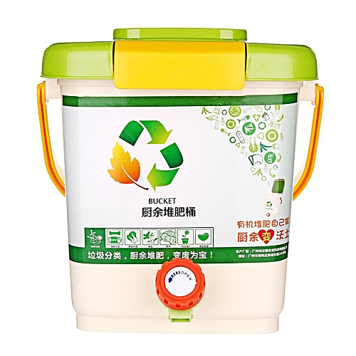10L Recycle Composter Aerated Compost Bin Bokashi Bucket Kitchen Food Waste # Compost Bin