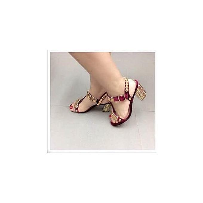 6f975805657 Fashion Ladies Mid Heel Sandals