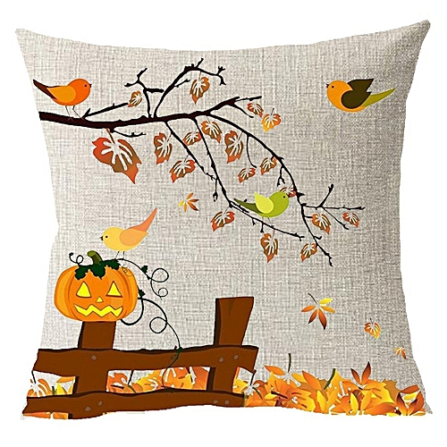 Hiamok_Dtrestocy Thanksgiving Gift Fall Maple Leaf Pumpkin Celebrate Harvest Pillowcase 18x18Inch