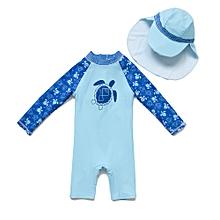 873a908439609 Baby Boys' UPF 50+ Sun Protection One Piece Long Sleeve Rash Guard