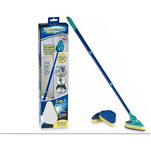 Clean Reach 3 In 1 Extendable Pad - Brush Scrubber