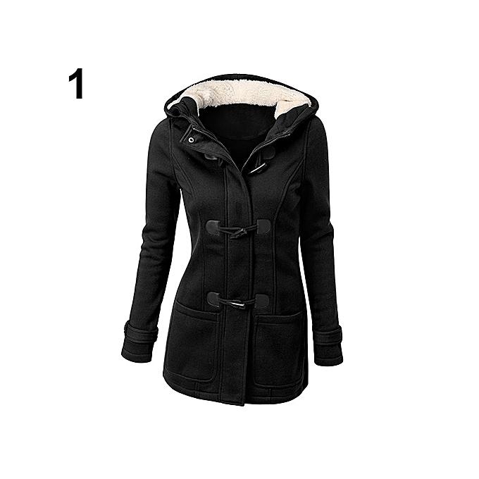 7aa71d6f8 Fashion Women Fashion Winter Jacket Coat Parka Horn Buttons Casual ...