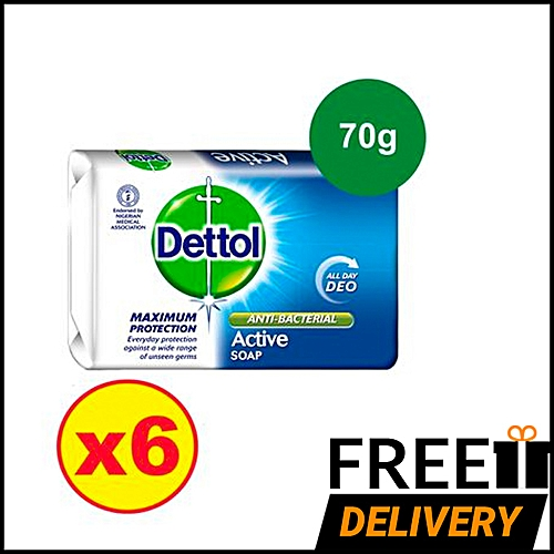 Anti-bacterial Soap 70g - Active Deo - Pack Of 6