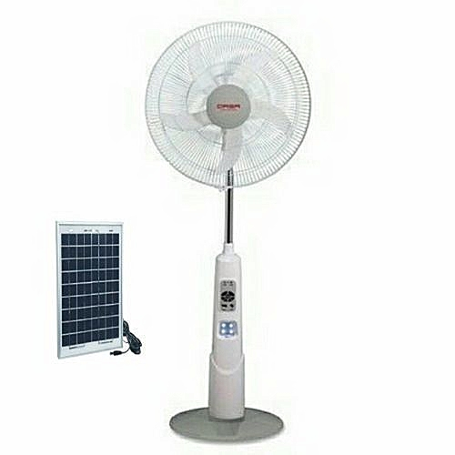 QASA 16 '' Rechargeable Fan With 10 Watts Solar Panel