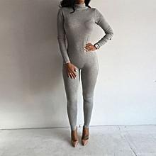 b0fa0a4590 Women Long Sleeve Playsuit Bodysuit YOGA Bandage Bodycon Jumpsuit Long  Rompers
