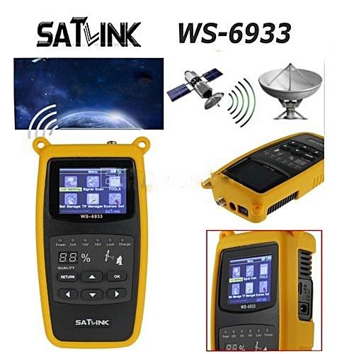 Satlink WS-6933 Satfinder Satellite Finder Satlink WS6933 2.1 Inch LCD Display DVB-S FTA C&KU BandMeter