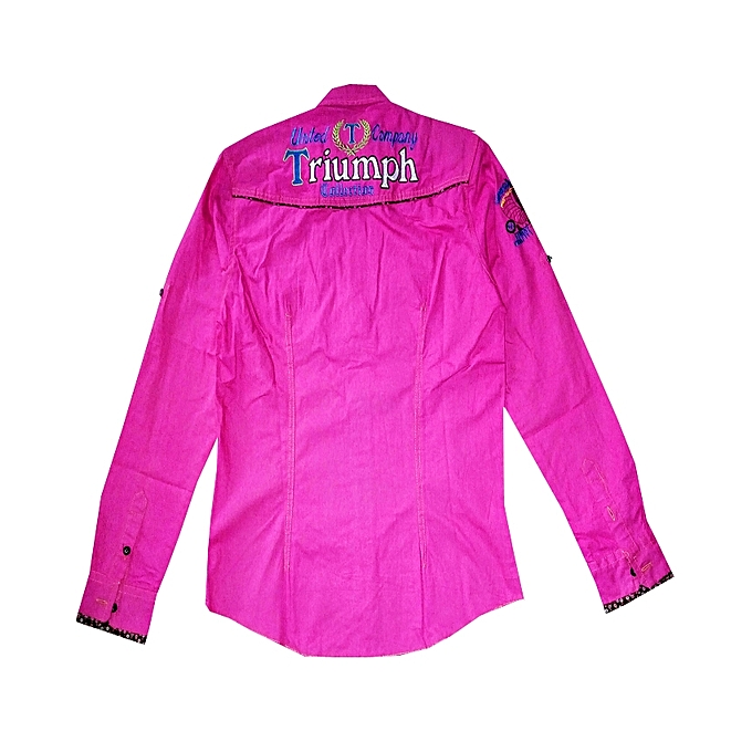 fbb42ea7 JMF Men's Designed Long Sleeve Shirt-pink | Jumia NG