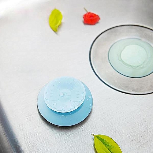 Honana BD-565 Silicone Drain Stopper Hair Catcher 2 In 1 Deodorant Sink Bathtub Kitchen Floor Drain Protector