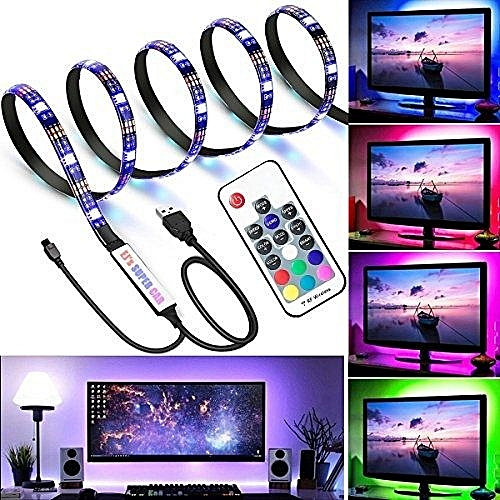TV LED Light Strip,USB Changing Color Strip Kit , Waterproof Bias Lighting With Remote Controller