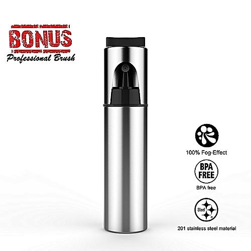 Olive Oil Sprayer,Cooking Spray Bottle Stainless Steel Oil Squirter Vinegar Sprayer Barbecue Spray Bottle With Bouns Brush