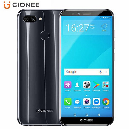 S11 Lite 5.7-Inch HD 18:9 Full Screen (4GB,64GB ROM) Android 7.1 Nougat, (13MP + 2MP) + 16MP, Hybrid Dual SIM 4G LTE Fingerprint ID Smartphone - Black