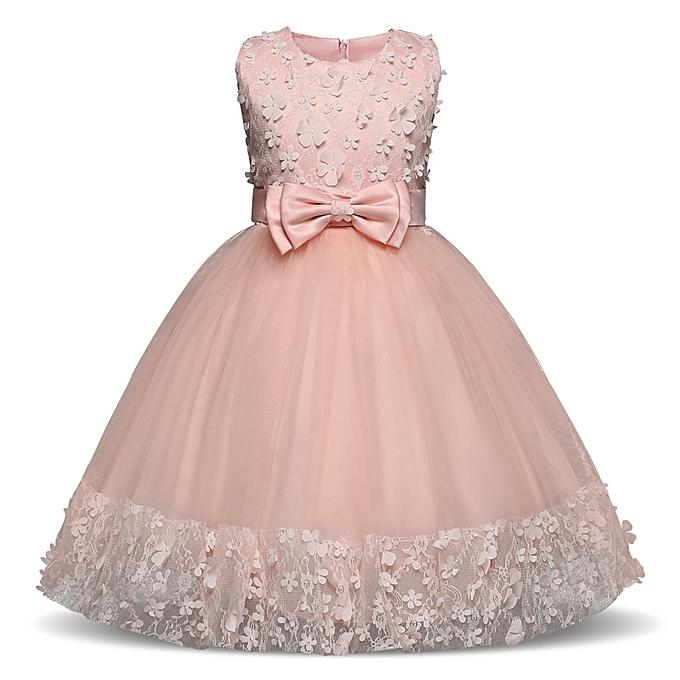 28138a36eae5b Summer Flower Dress Girl Princess Costume Dresses Girl Party Wear Tulle  Kids Children Prom Gown Vestido Formal Dress 4-10 Years