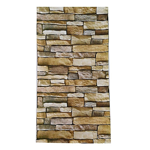 3D Brick Wall Paper Modern Removable PVC Living Room Background Wall Sticker