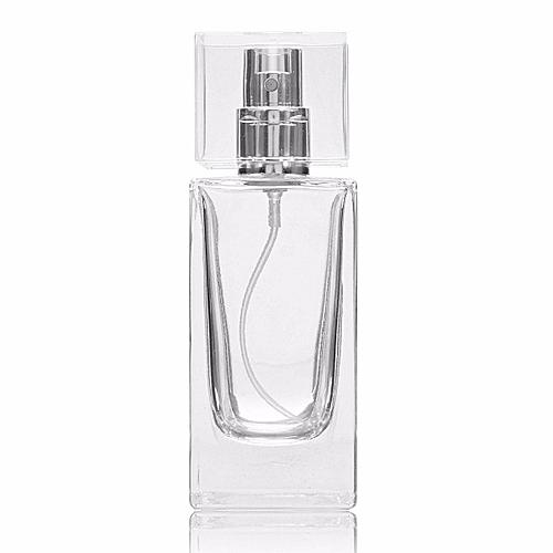50mL Empty Glass Perfume Spray Bottle Rectangle Atomizer Refillable Travel Gift
