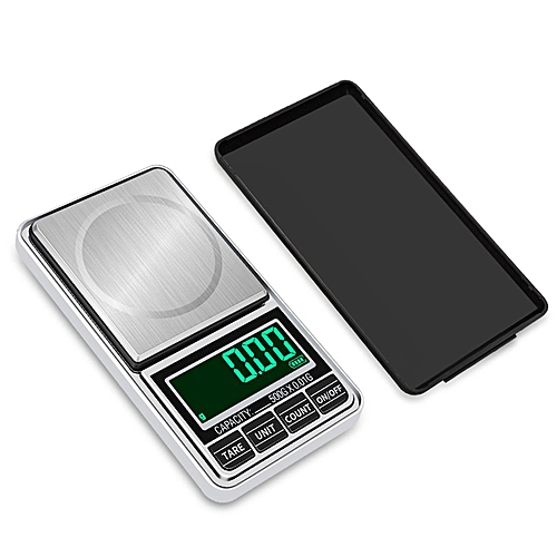 Digital Pocket Jewelry Weigh Scale High Precision USB Charging 200g/0.01g Silver