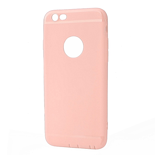 OR Silicone Matte Back Cover Shockproof Protective Phone Case Shell For IPhone-Pink-For IPhone6/6S