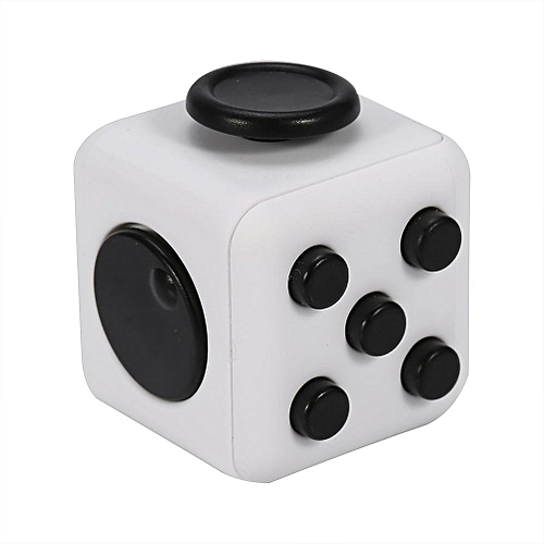 6 Sides Anxiety Relieve Cube Anti-anxiety Toy For Children Adults (Black + White)