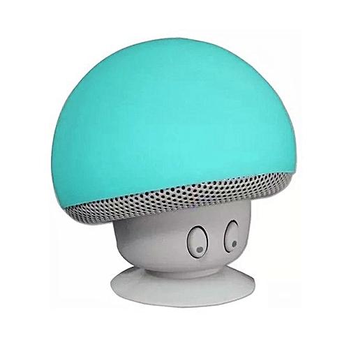 Bluetooth Speaker Mushroom Stereo Loudspeakers Waterproof Mini Subwoofer Green