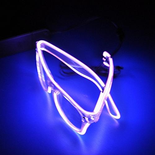 Flashing EL Wire New Fashion Led Glasses Luminous Party Decorative Lighting Classic Gift Bright Light Festival Macka
