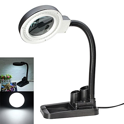 Magnifying Crafts Glass Table Lamp With 5X 10X Magnifier With 40 LED Lighting