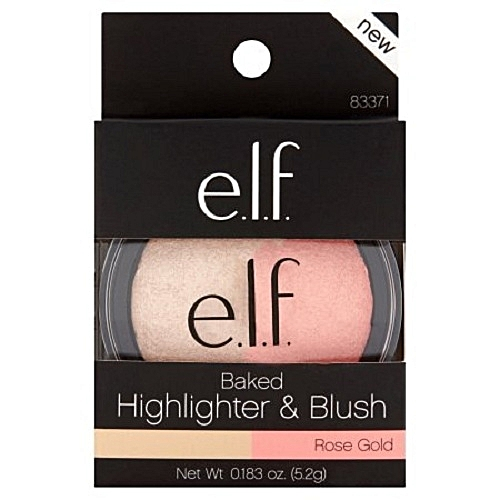 Elf Baked Highlighter & Blush- Rose Gold