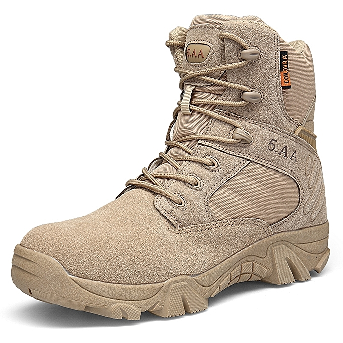 c74009571aa2 Hot Sale Outdoor Black Men Boots Military Boots Large Size Hiking Shoes  Tactical Boots 39-