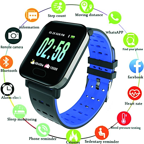 Newest Smart Watch With Support For Heart Rate Monitor Blood Pressure For IOS Android Phone Smartwatch