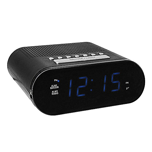 DIGOO DG-FR200 Smart LED Digital Display Alarm Clock With FM Radio Adjustable Volume Dual Daily Alarms
