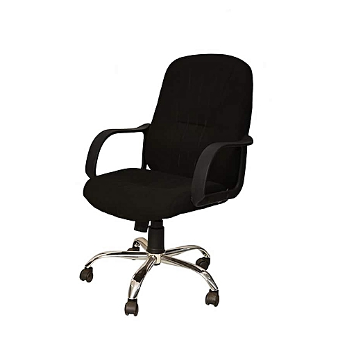 Office Rollable Chair - Black
