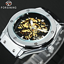 2753adf41da Men Military Fashion Watches Auto Mechanical Rubber Strap Skeleton Case  Wristwatch
