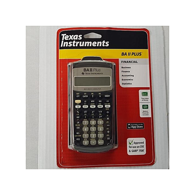 texas instruments ba ii plus how to use