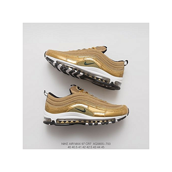 "newest 23cd4 734a8 2018 Air Max 97 CR7 ""Golden Patchwork"" Cristiano Ronaldo AQ0655-700 Unisex  Sneaker (36-44)"