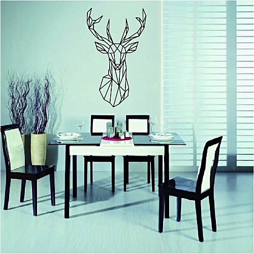Fovibery Fashion Deer Head DIY Originality TV Wall Bedroom Parlor Decorative Animal Wall Stick