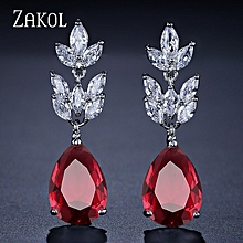 Romantic Bridal Wedding Accessories Jewelry Cubic Earrings for sale  Nigeria
