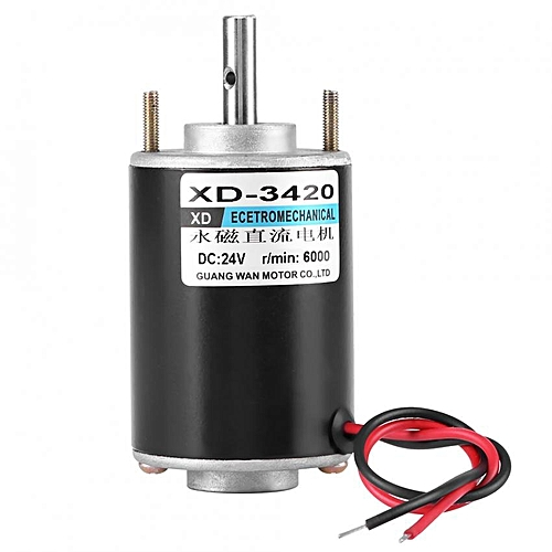 XD-3420 30W Permanent Magnet DC Motor High Speed CW/CCW (24V 6000RPM)