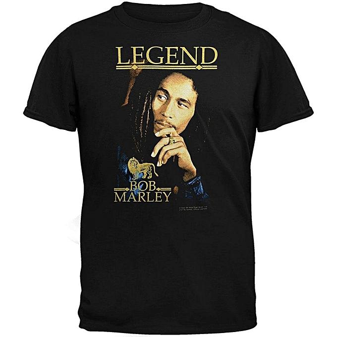 9ce407733956 Men s Fashion T-Shirt Bob Marley Legend Men s Cotton T-Shirt Casual Shirts