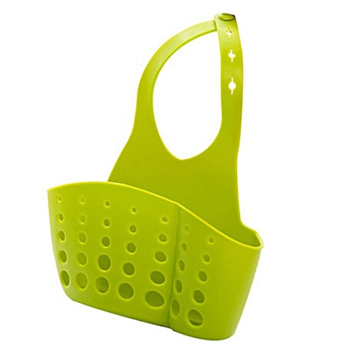 Sink Sponge Holder 2 Bags Holes Tap Hanging Strainer Organizer Storage Rack Green