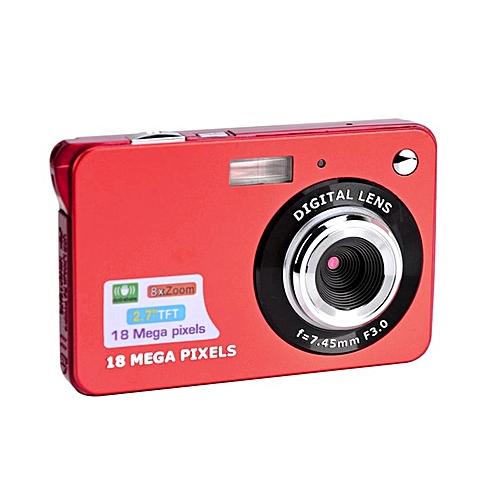 2.7 Inch TFT LCD Display 18MP 720P 8x Zoom HD Anti-Shake Digital Camera Red