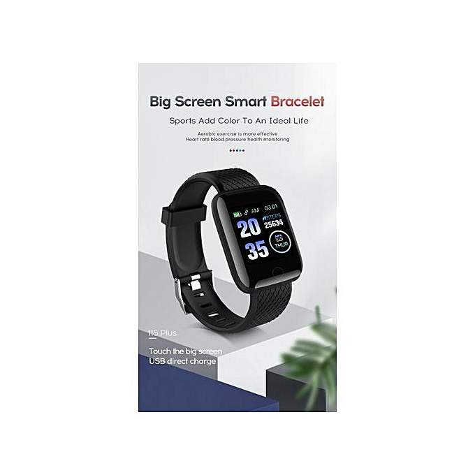 116plus Color Screen Smart Bracelet D13 Heart Rate 1 3 Inch Blood Pressure  Sleep A6S Waterproof USB Direct Charge Excellent Live APP