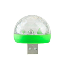 Mini USB Sound Party Lights Disco Light 4W 3W RGB Magic Crystal Ball Stage Light Effect  Christmas KTV Wedding Music Dj Light(green Shell 3W)(with Type-c), used for sale  Nigeria