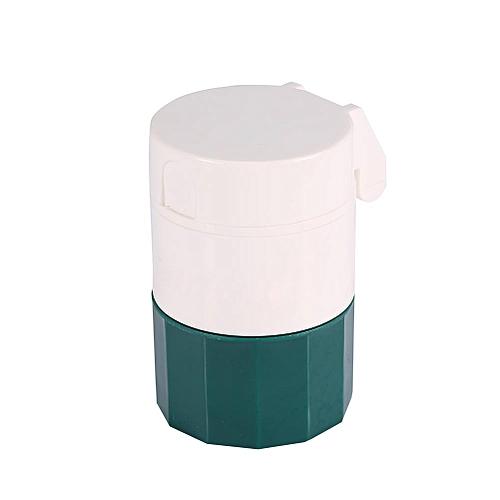 New Portable 4 Layers Medicine Cutter Pill Powder Storage Splitter Box Case Organizer