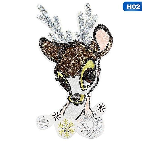 Eleganya 1 PC Lovely Cartoon Deer Shaped Sequins Clothing Patch Sticker
