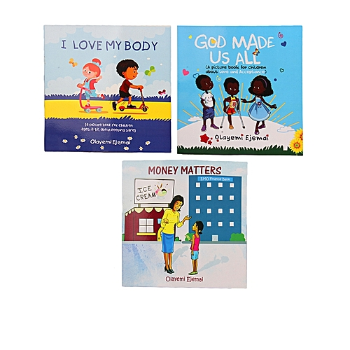 Money Matters, God Made Us All & I Love My Body 3in1 Children Books