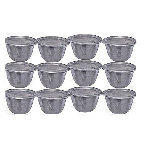 Moi Moi Plate Container Cups With Cover - 12pcs